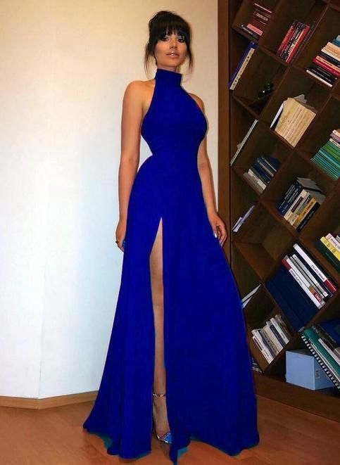 High Neck evening dress,sexy ball gowns, custom made ,new fashion, Red Long Prom Dress Sexy High Split Women Evening Party Formal dresses