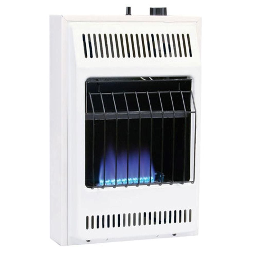 10000 BTU Blue Flame Vent Free Natural Gas Wall Heater Convection Continuous