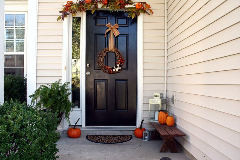 Burlap and Lace: Sprucing Up the Front Porch for Fall