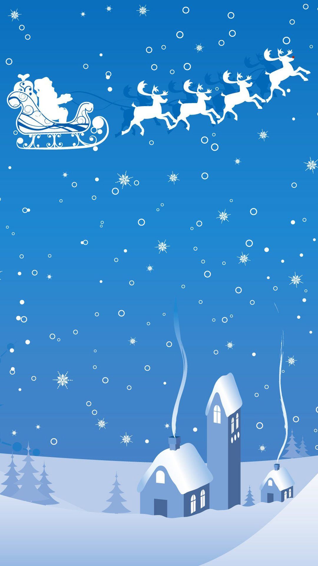 Samsung Galaxy Wallpaper Christmas Christmas theme blue