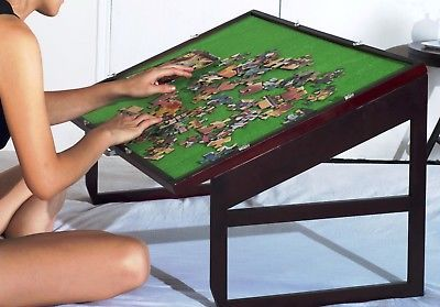 Wooden Jigsaw Puzzle Table For Adults Kids Portable Folding Table 1500 Pcs With Images Jigsaw Puzzle Table Puzzle Table Woodworking Jigsaw
