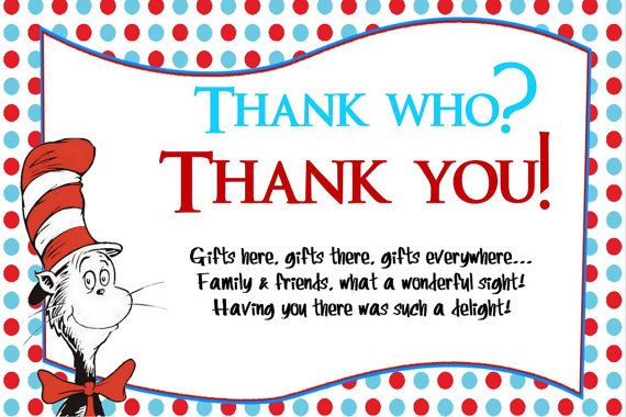 Dr Seuss Thank You Cards For Baby Shower By Createphotocards4u