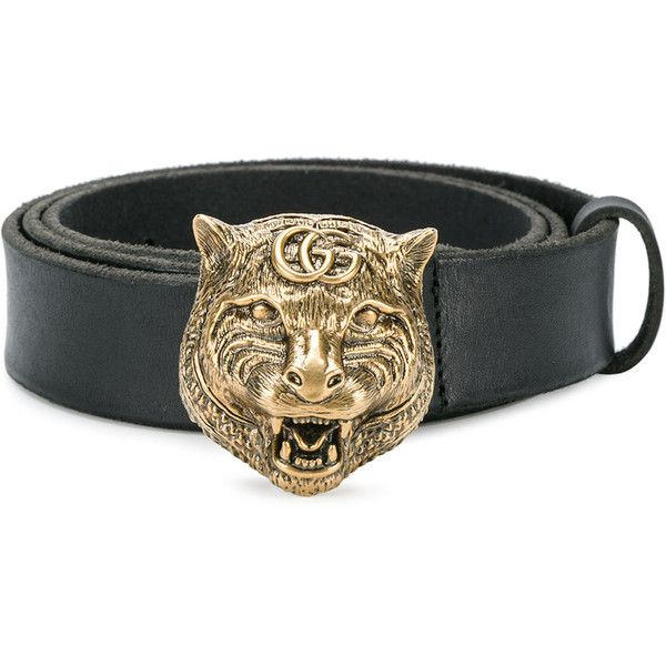 b8e367f5cd9 Gucci tiger buckle belt ( 455) ❤ liked on Polyvore featuring men s fashion
