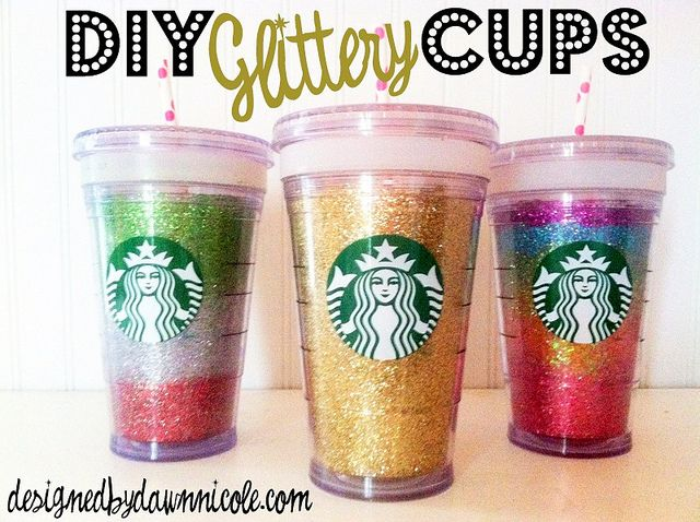 DIY Glittery Cups