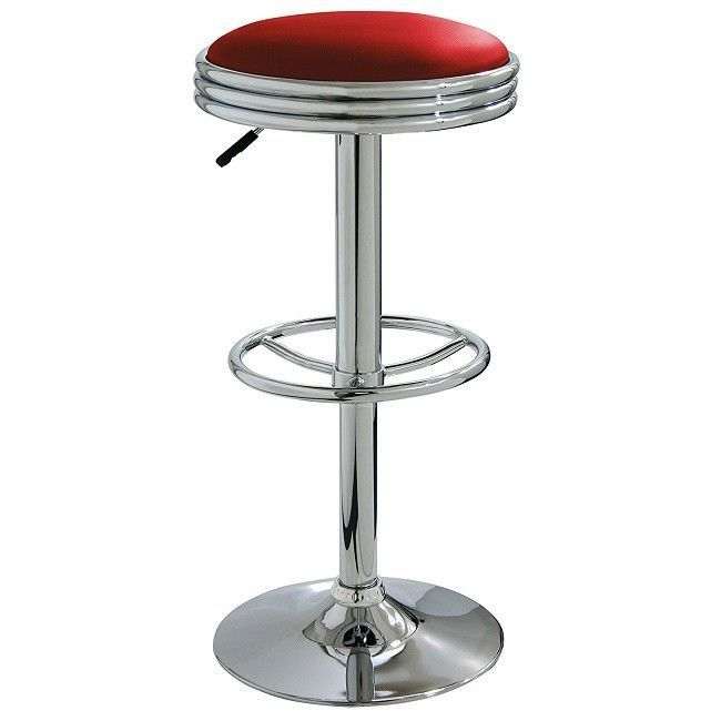 Pleasing Vintage Style Bar Stools Mini Small Red Round Nostalgic Machost Co Dining Chair Design Ideas Machostcouk