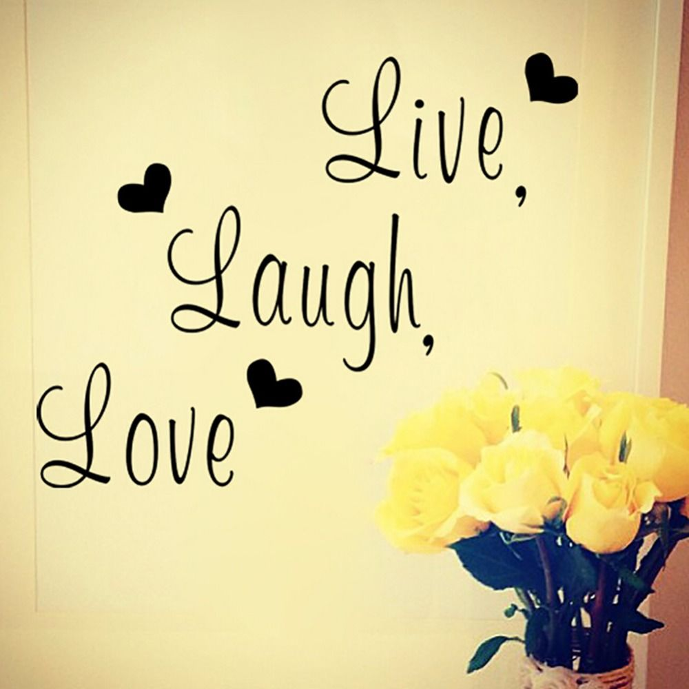 Best - Selling Live Laugh Love English Text Decal PVC Art Wall ...