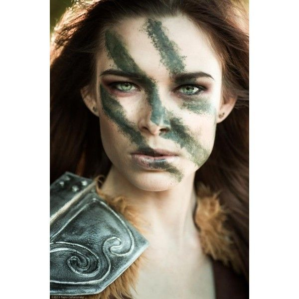 Beautiful Aela The Huntress From Skyrim [Cosplay] ❤ liked on Polyvore featuring pictures
