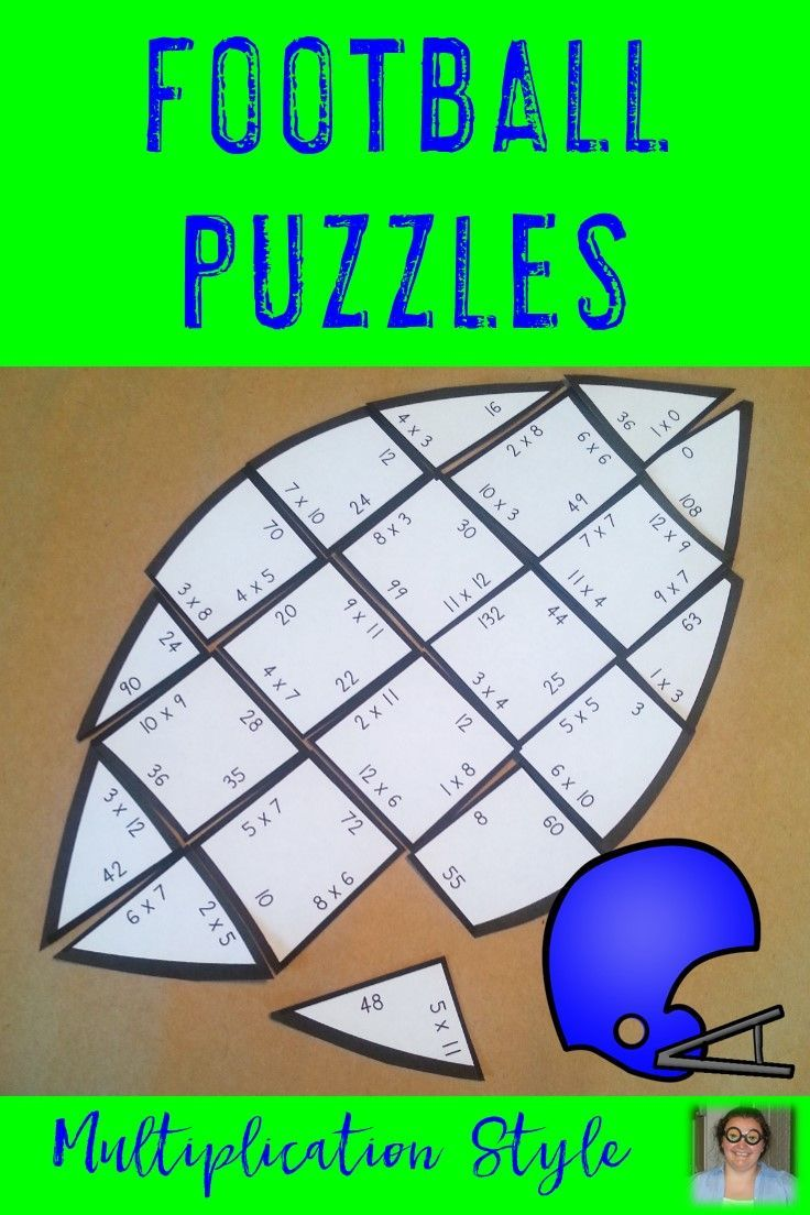 Multiplication Football Math Activities Games Decor And More