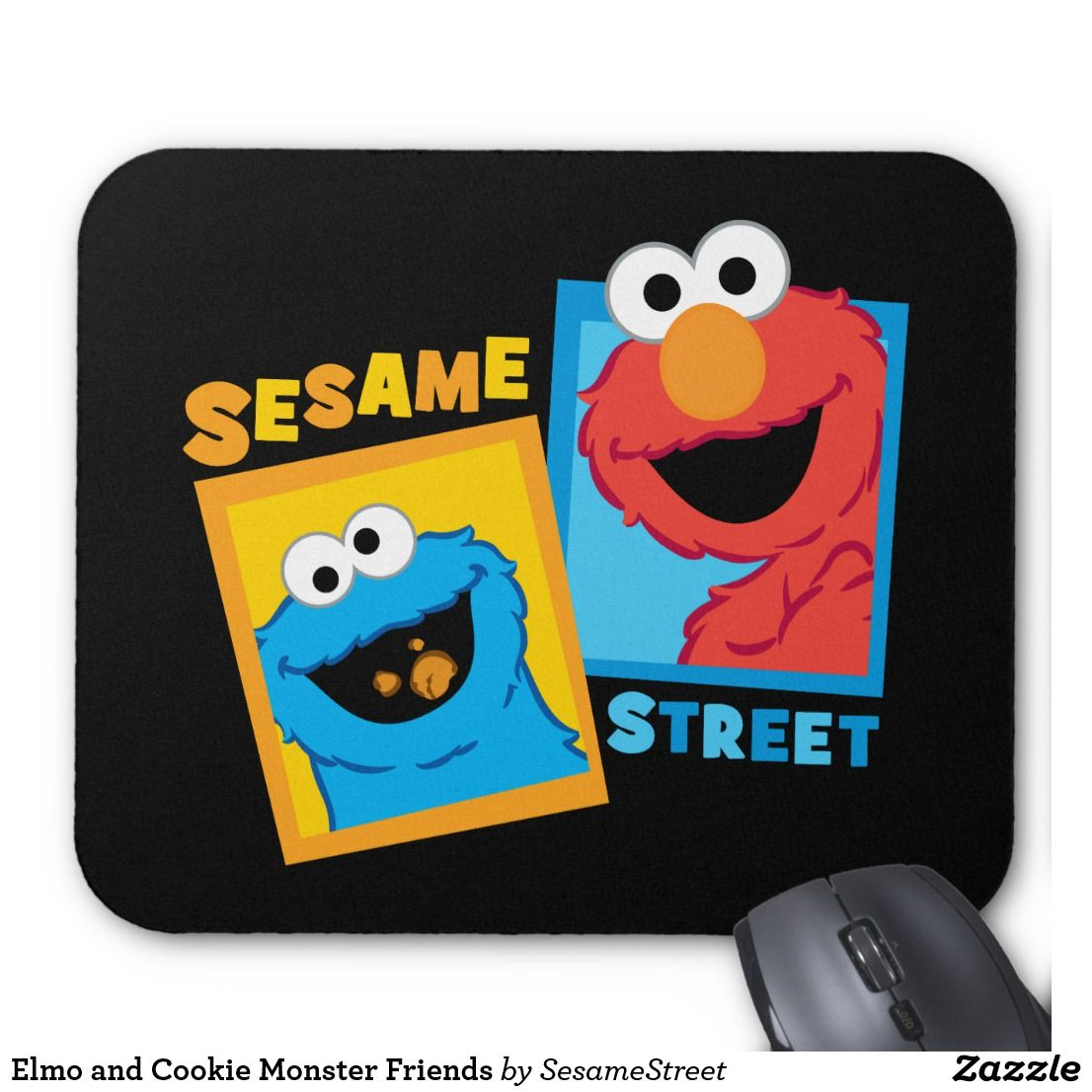 Elmo And Cookie Monster Friends Mouse Pad Zazzle Com