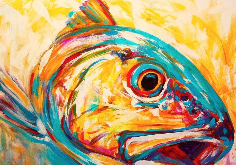 10 Contoh Lukisan Abstrak Yang Mudah