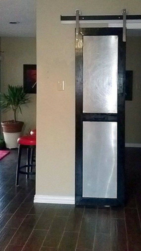 Pre Drilled Large Modern Sliding Barn Door Track Kit Indoor