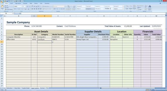 Asset Controller Inventory Tracker by Templates4U on Etsy