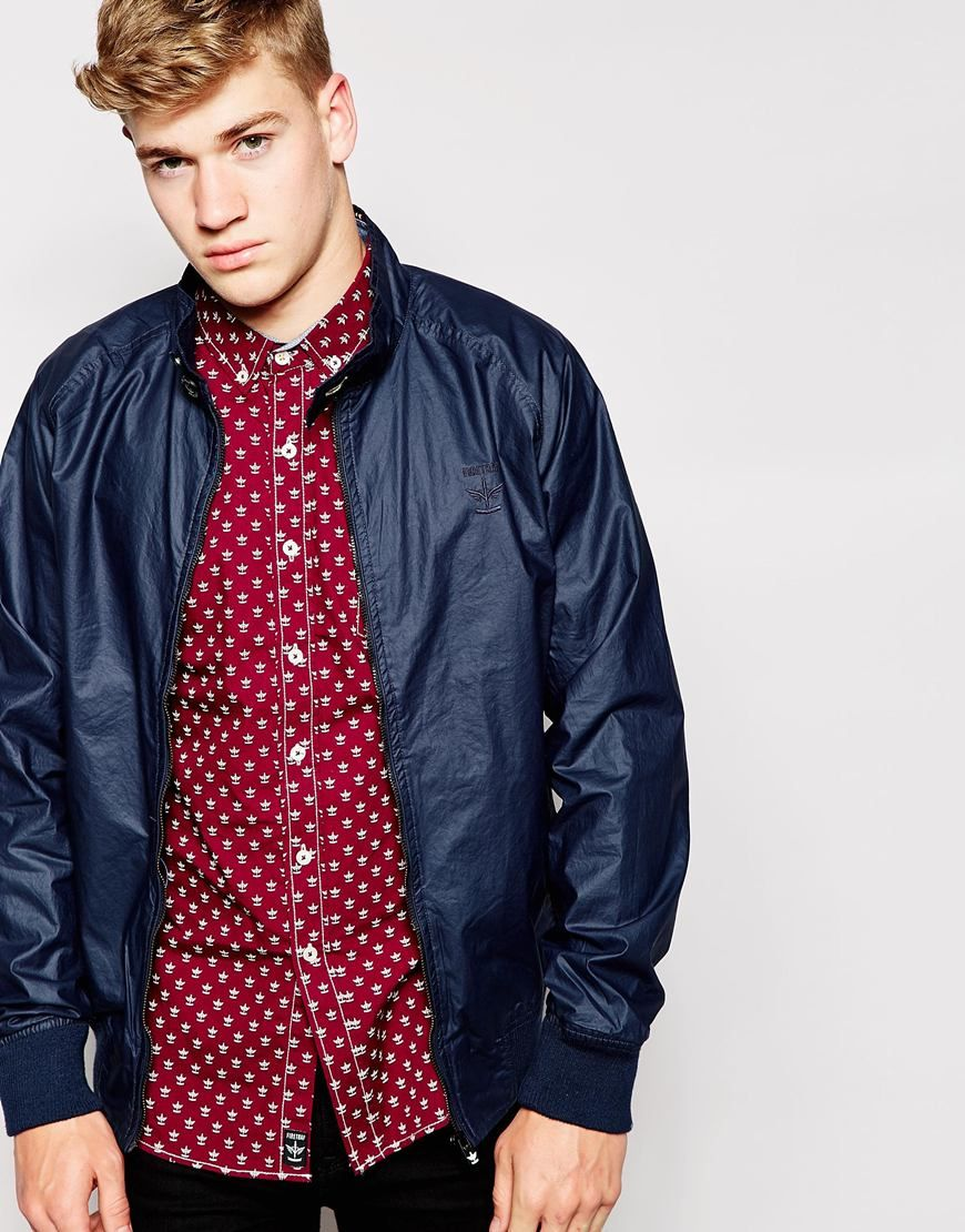 """Jacket by Firetrap Waxed cotton Fully lined Stand collar Zip placket Side slant pockets Ribbed trims Regular fit - true to size Machine wash 100% Cotton Our model wears a size Medium and is 181cm/5'11.5"""" tall"""