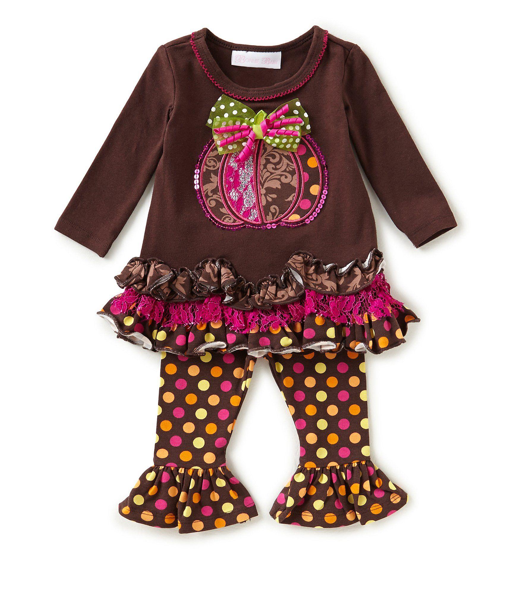 Bonnie Baby Baby Girls Newborn 24 Months Thanksgiving Pumpkin Dress