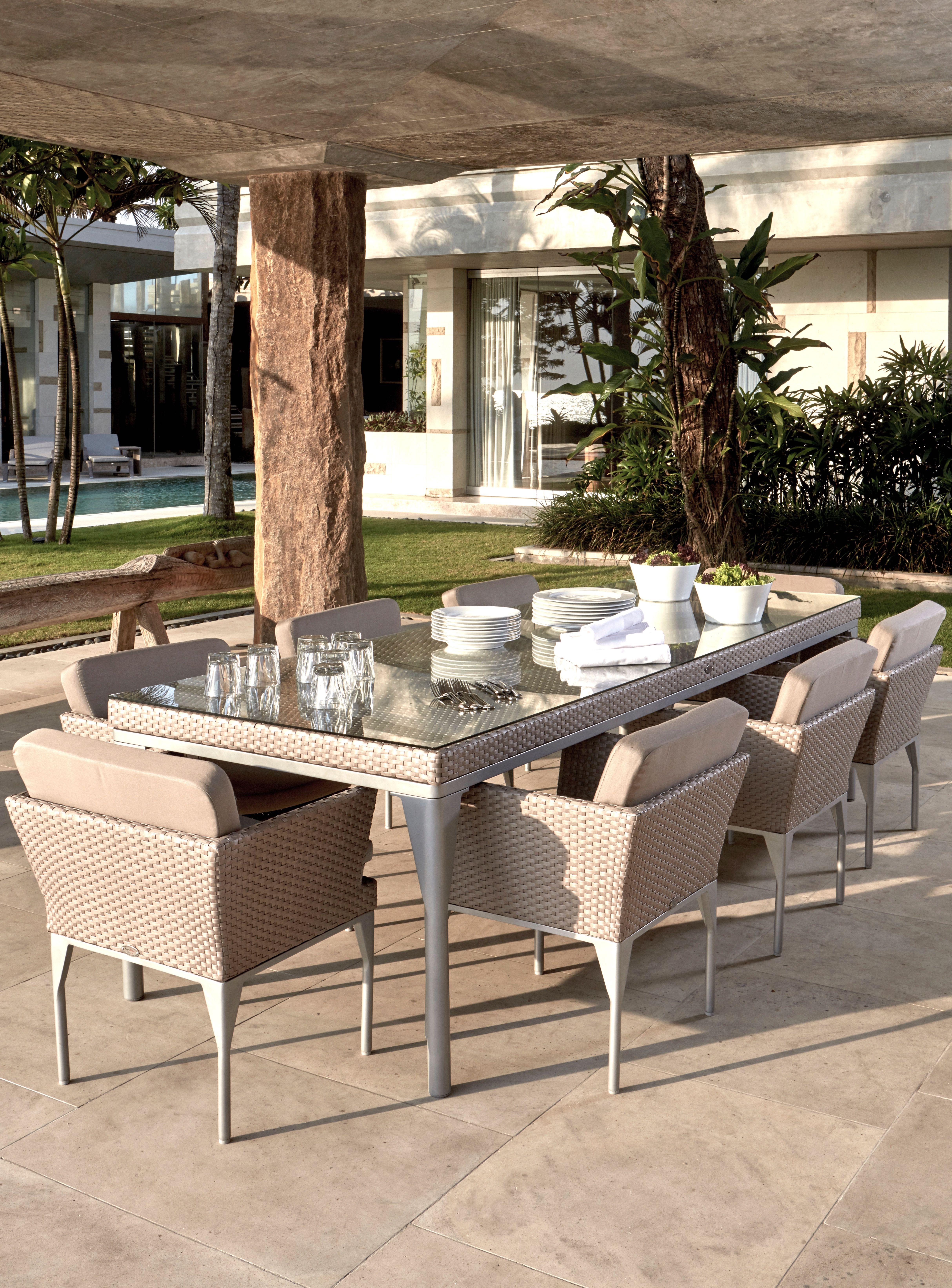 Skyline Brafta Rectangle Dining Table - Seats 8 - Luxury ... on Fine Living Patio Set id=64763