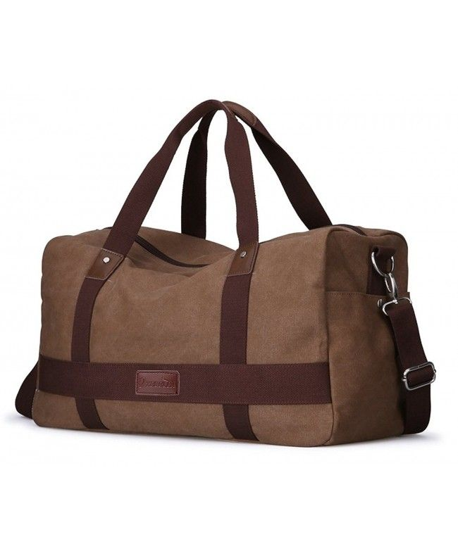 Unisex Canvas Large Travel Duffel Tote Sports Gym Bag Overnight Handbag -  coffee - C411XIA59QF  Bags  handbags  gifts  Style  Duffle Bags c4b381a713e64