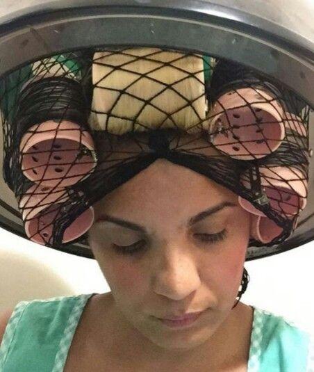 Murry  Hair In Roller Under Dryer Small Mesh Setting NET #2236BLK**