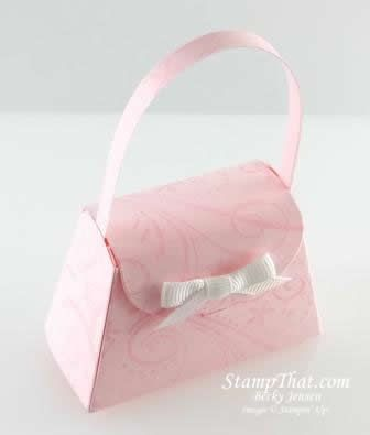 Our new Stampin' Up Petite Purse Big Shot die - used in a a very beautiful way! Thanks, Becky!