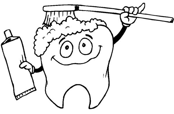 Coloring Page Dental Hygiene Vector Set Stock Vector Image 63022247 Coloring Pages Coloring Books Apple Coloring