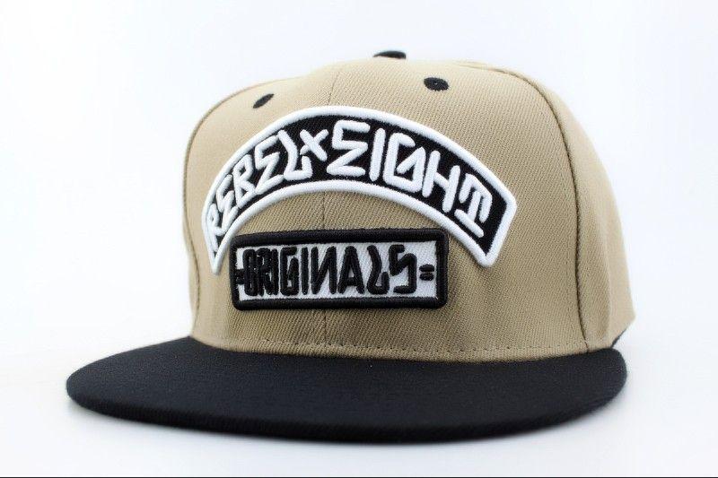 08cb921549d Rebel8 Snapback Hats Grey 8139