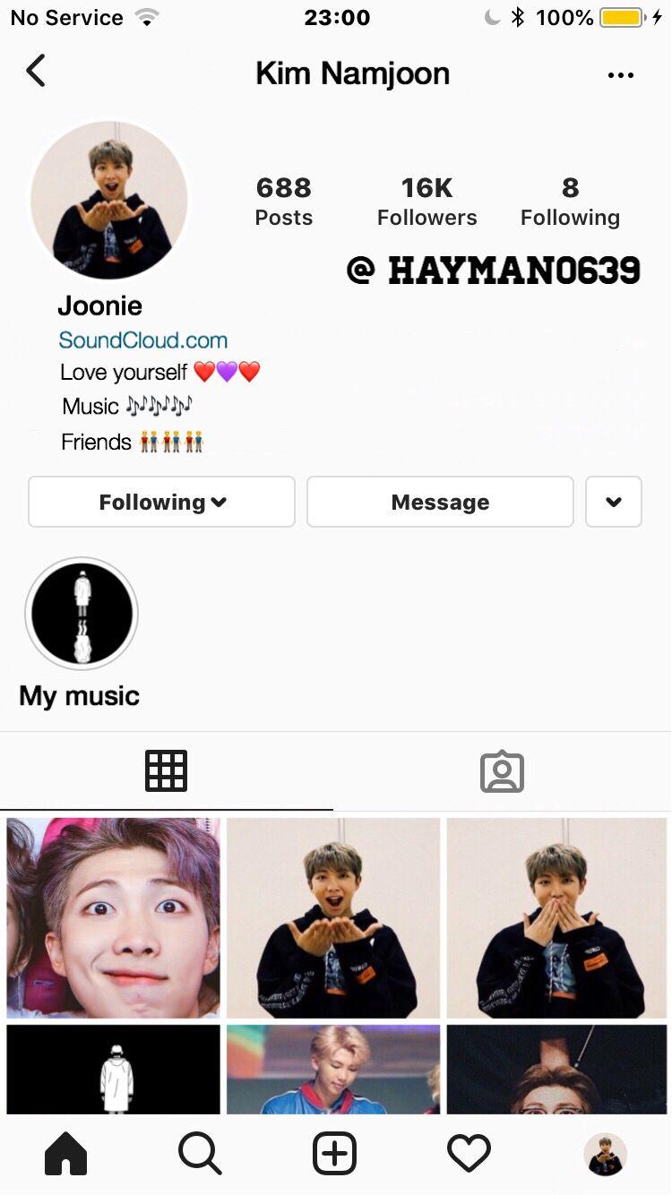 Namjoon Insta Page Bts Social Media Namjoon Social Media S