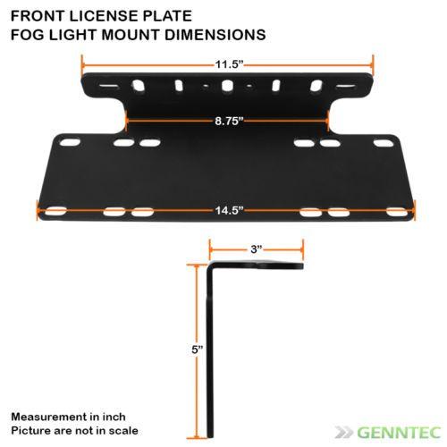 Steel License Plate Base Mount For Fog Lights Led Light Bar Backup Lights Led Light Bars Bar Lighting License Plate