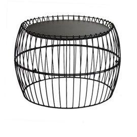 Table Basse En Metal Gladstone Noire O64 Cm Table Basse Filaire Table Basse Table Basse Metal