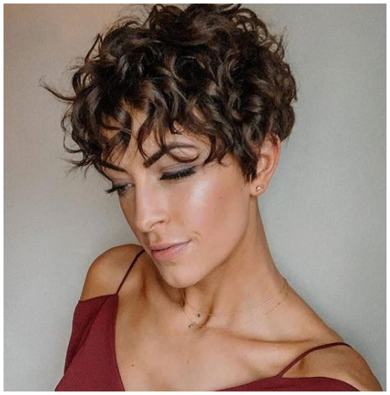 short curly haircuts edgy