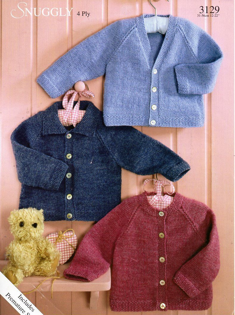 fc438955e baby 4ply cardigan knitting pattern pdf baby collar jacket moss ...