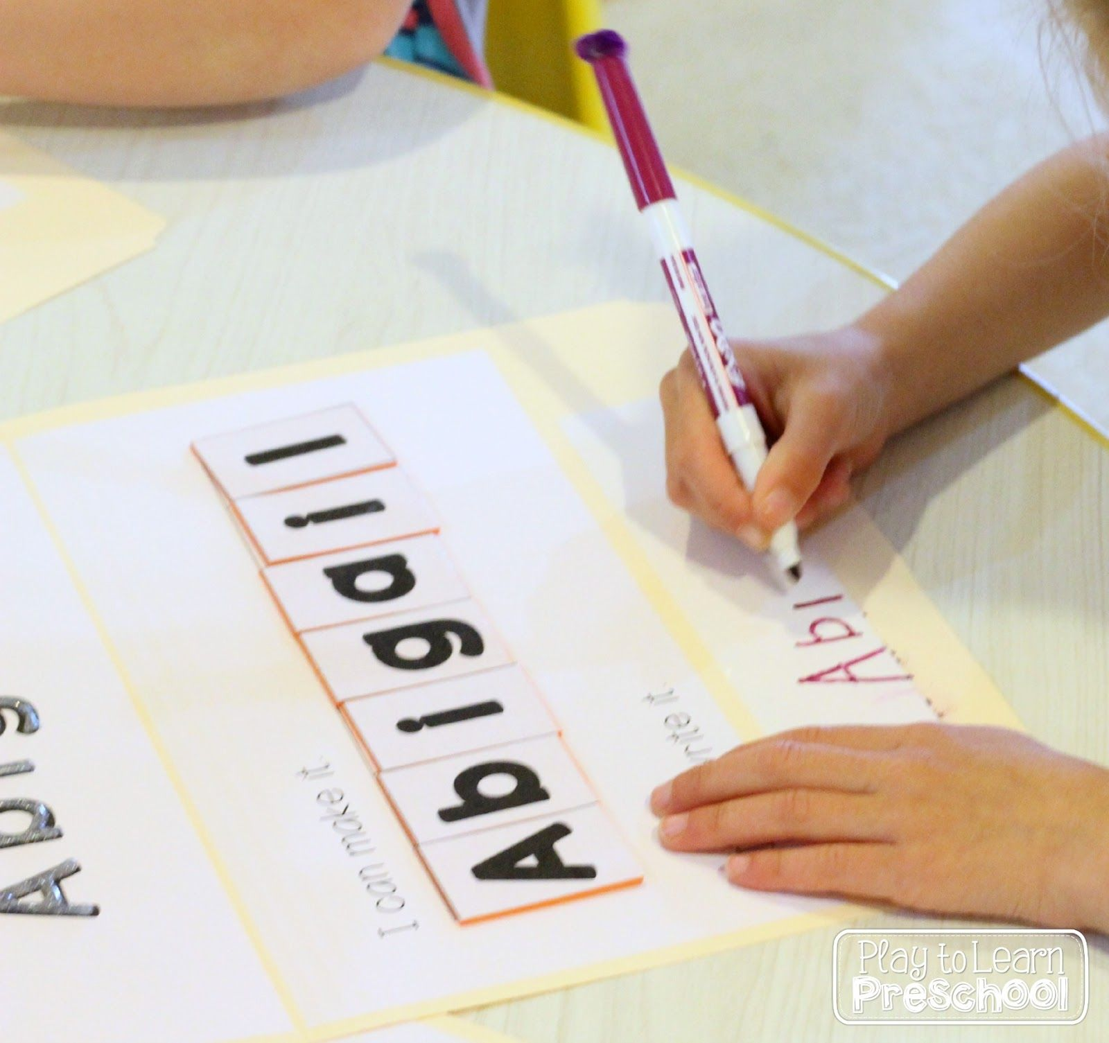 Name Folders A Portable Hands On Way To Learn