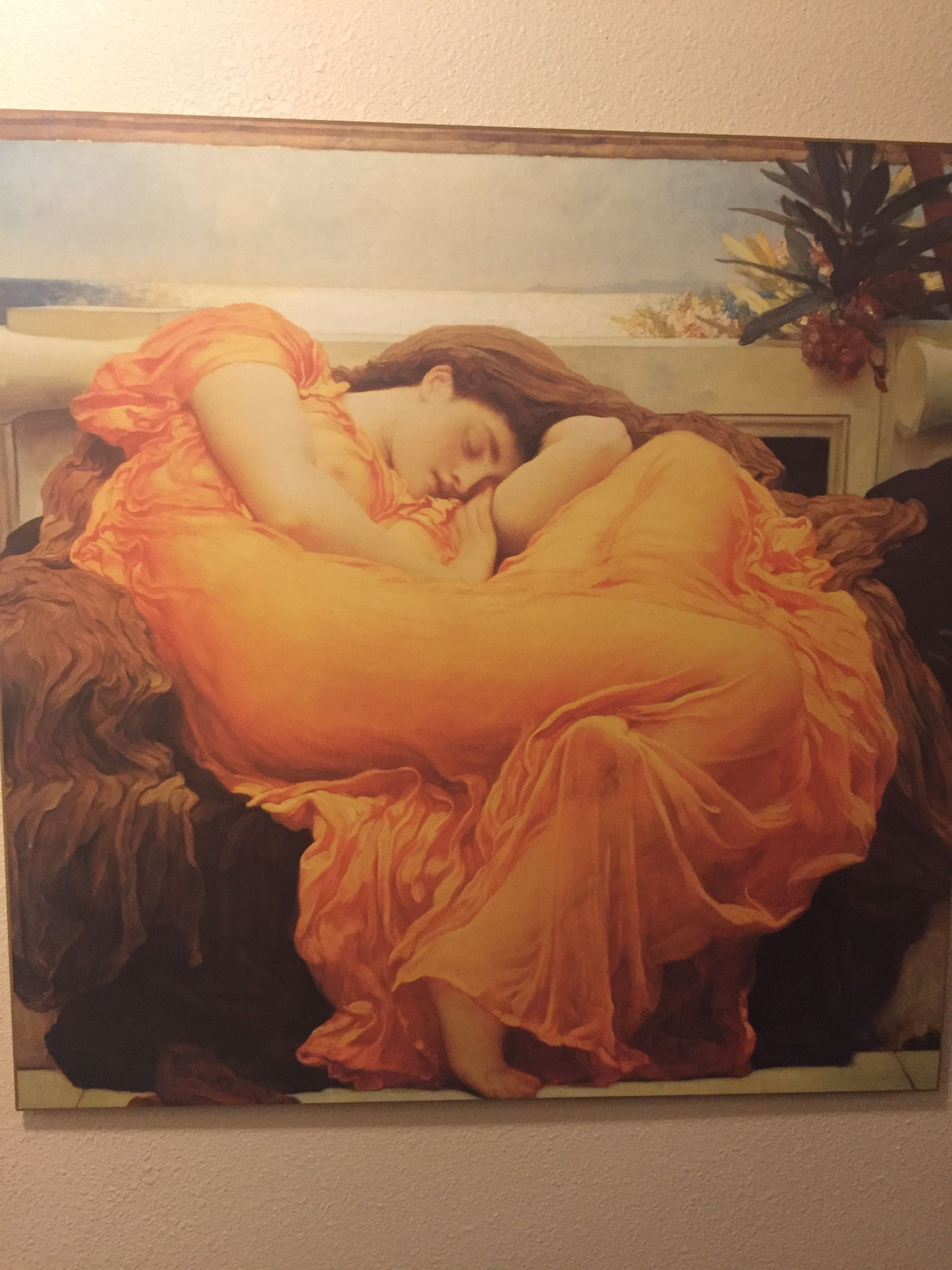 by Frederic Lord Leighton Canvas Print Flaming June Museum Art