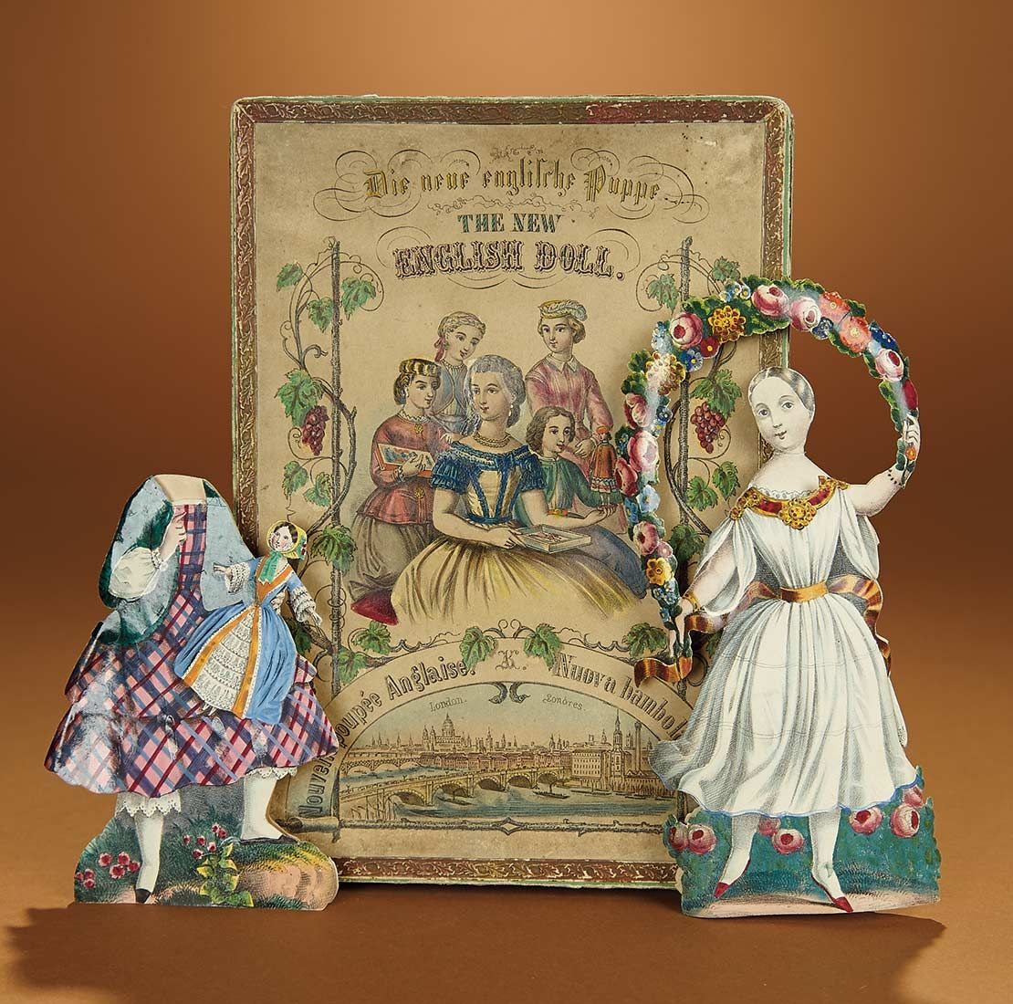 "Bread and Roses - Auction - July 26, 2016: Lot #29.1 Early Boxed Paper Doll ""The English Doll"""