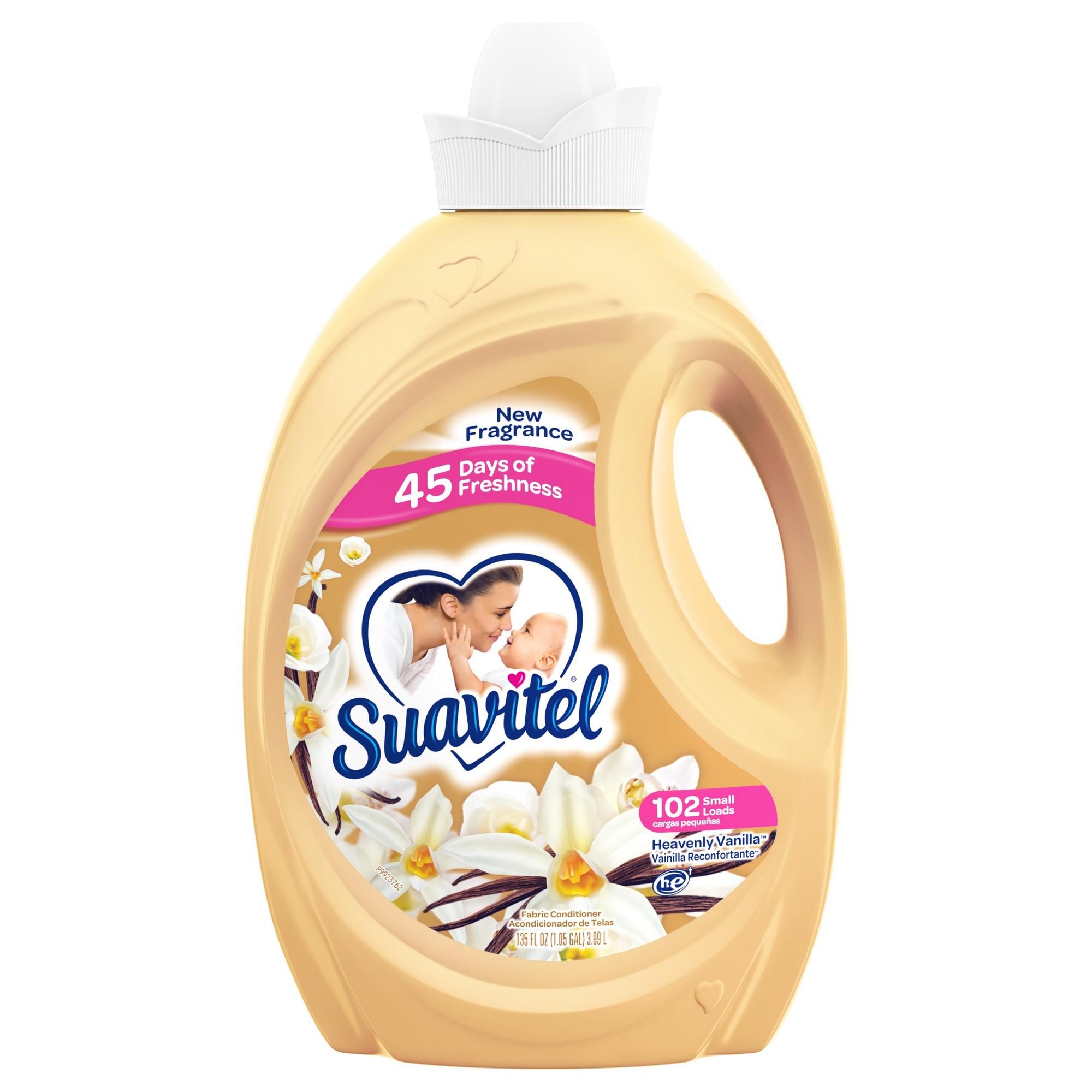 Suavitel Fabric Softener Heavenly Vanilla 135 Fl Oz Fabric