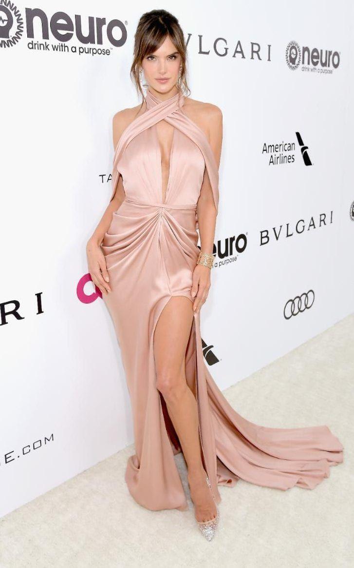 Alessandra Ambrosio Elton John's Oscars party