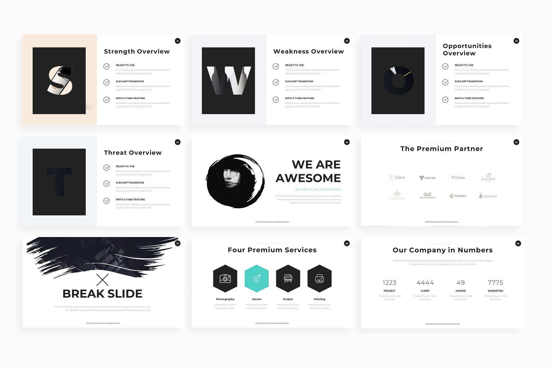 Rhino - Powerpoint Template #Included#Icon#Presentation