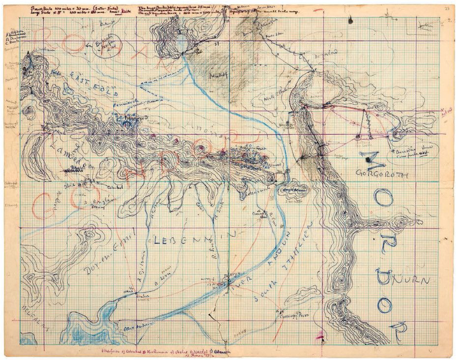 See the Sketches JRR Tolkien Used to Build MiddleEarth