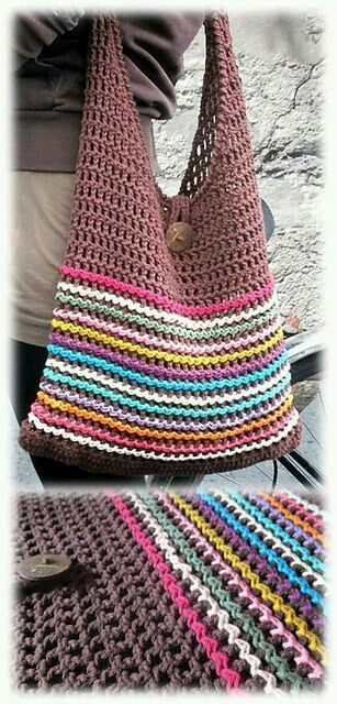 Este es el bolsito que use de modelo | Crochet Ideas and Inspiration ...