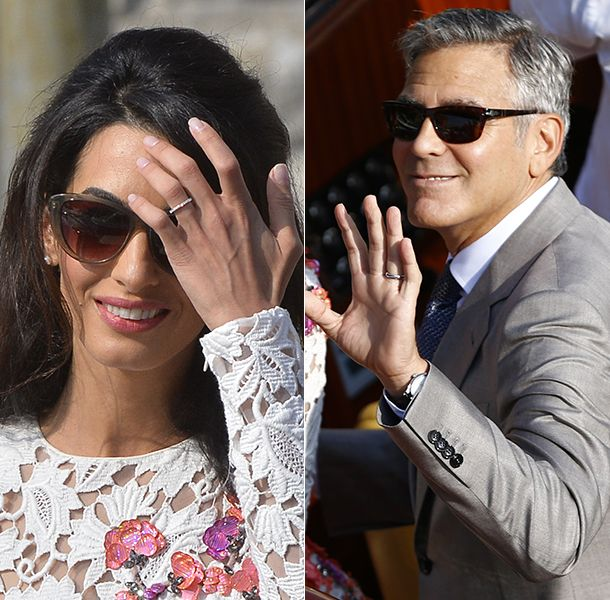 George Clooney And Amal Alamuddin First Look At Wedding Rings