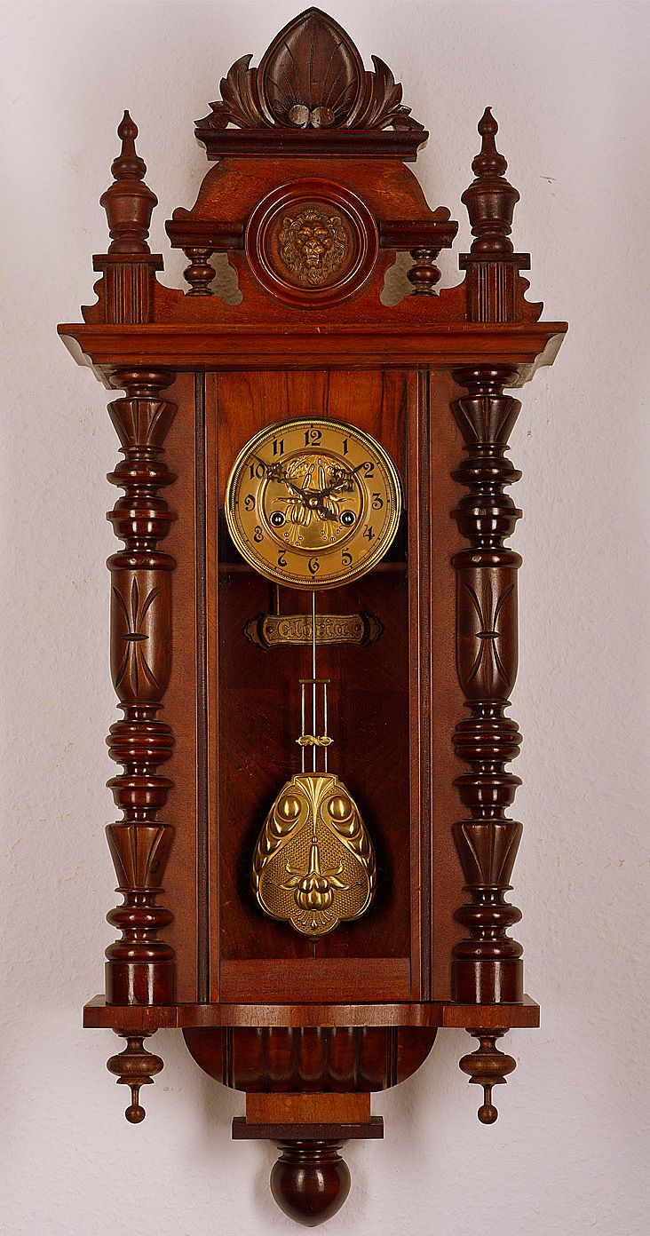 Antique Gustav Becker Pendulum Wall Clock approx1900 zegary