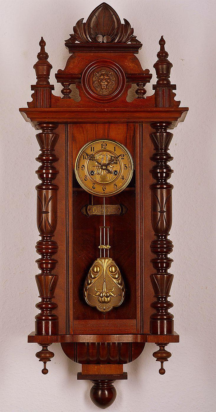 Antique gustav becker pendulum wall clock approx1900 zegary antique gustav becker pendulum wall clock approx1900 amipublicfo Images