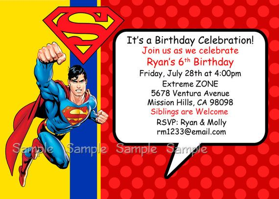Get Superman Birthday Invitations Ideas Bagvania Invitation
