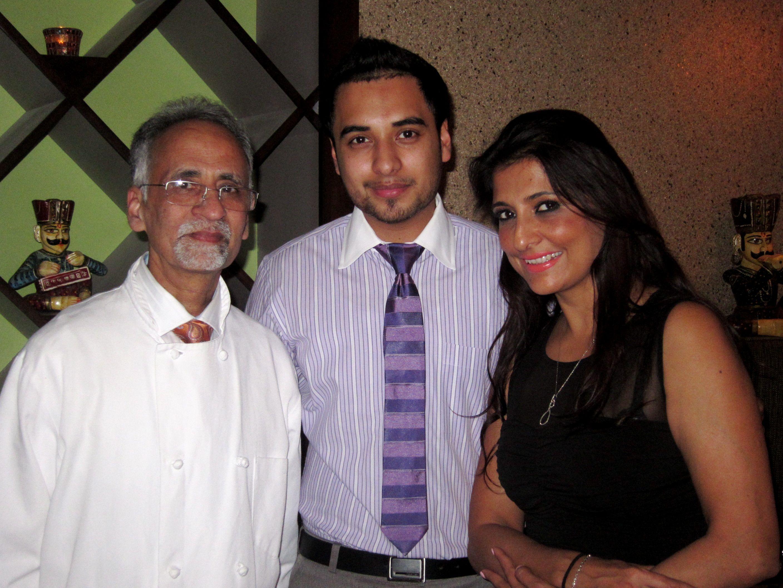 Sam, Sushant and Anu Nagpal, owners of Coriander Indian Restaurant
