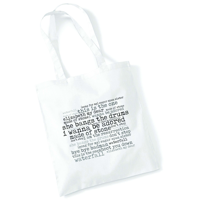 Art Studio Tote Bag GEORGE MICHAEL Lyrics Print Album Poster Beach Shopper Gift