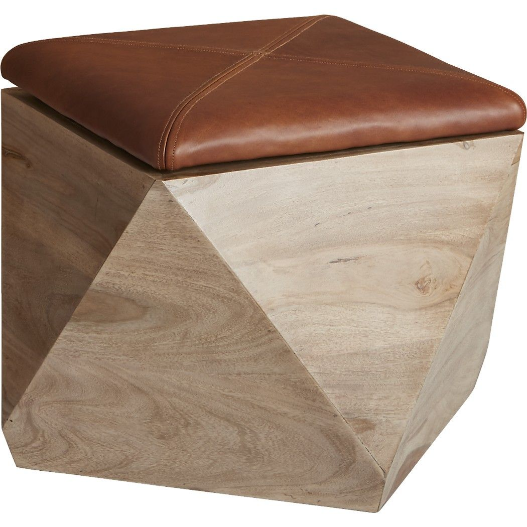Shop Hexagon Storage Ottoman. Wooden Wonder Shapes Up As Stunning Stool,  Ottoman, And Storage For Every Room. Shesham Wood Base Stashes Everything  From ...