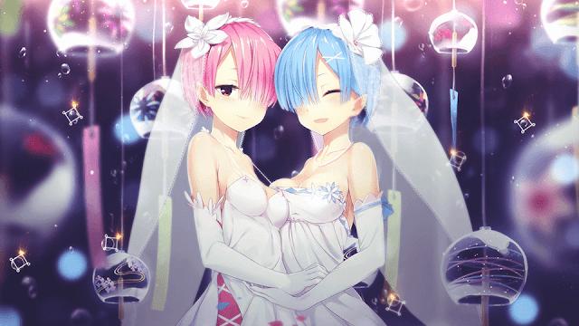 Ram Rem Rezero Wallpaper Ram And Rem Rem Anime High School