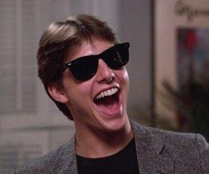 Tom Cruise wearing Ray Ban Wayfarer