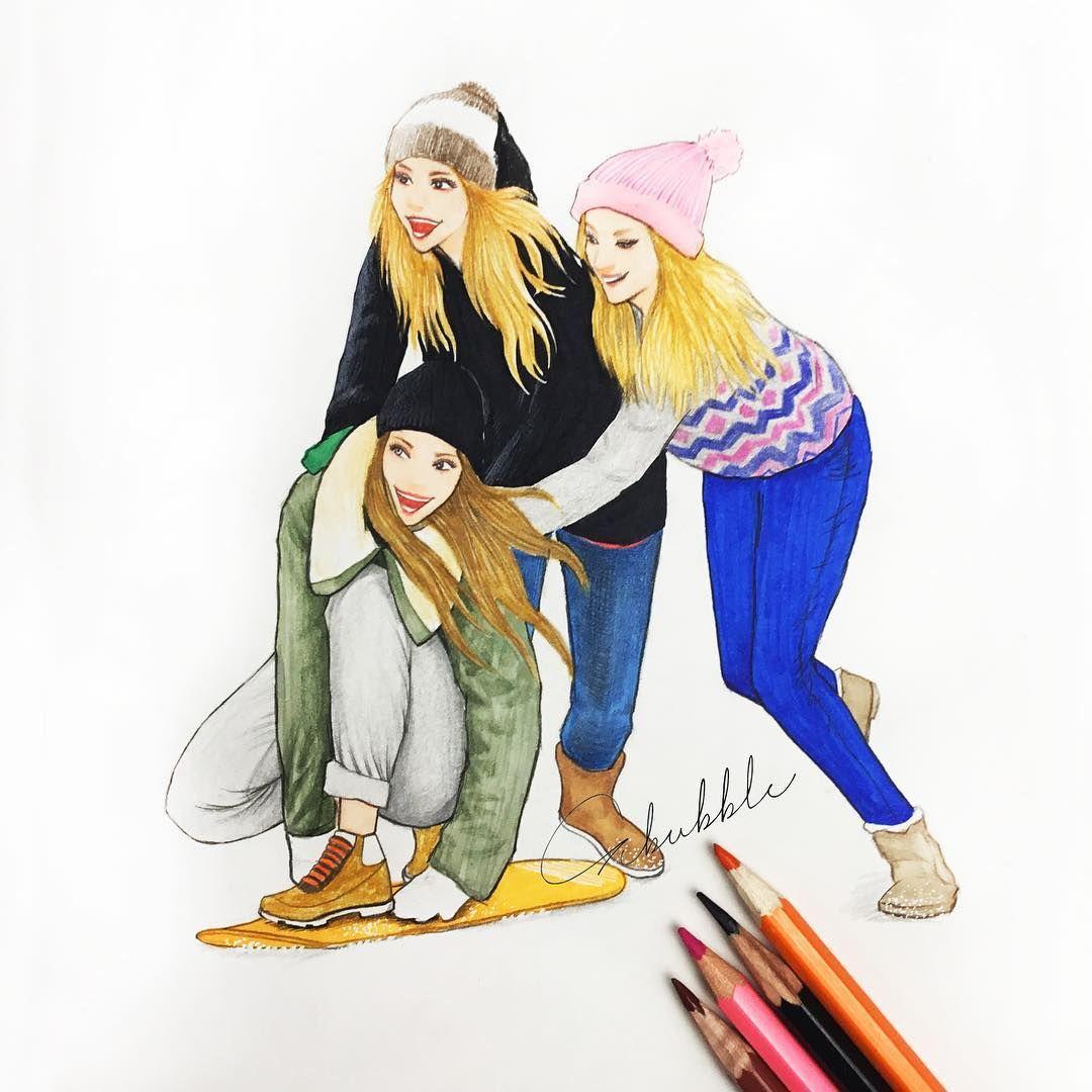 картинки как нарисовать друзей лично