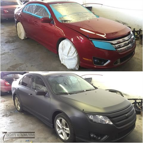 Ford Fusion Transformation Into Matte Black Using Plasti Dip Ford Fusion Matte Instagram Photo Photo And Video