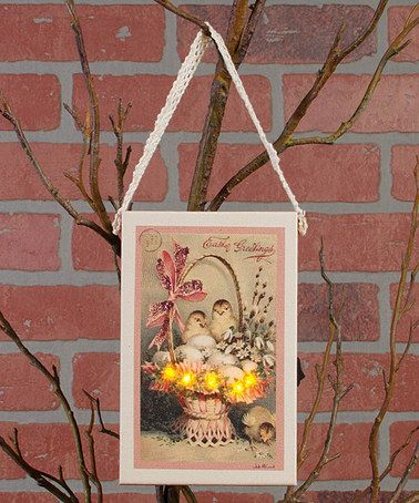 Look at this #zulilyfind! 'Easter Greetings' Birds & Basket Light Ornament #zulilyfinds