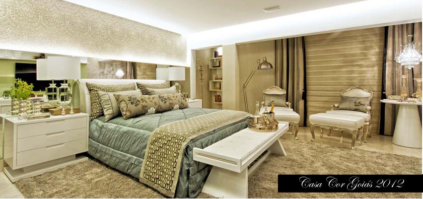 Quartos de casal luxo modernos lndos casa cor for Ambientes modernos interiores